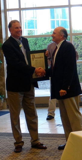 Dave Presented with Proclamation from Mayor Clough